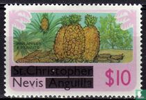 Zegels van St.Kitts-Nevis met opdruk