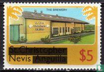 Zegels van St. Kitts- Nevis met opdruk