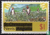 Zegels van ST. Kitts-Nevis met opdruk