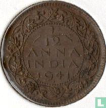 Brits-Indië 1/12 anna 1941