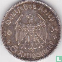 "Duitse Rijk 5 reichsmark 1934 (G - zonder datum) ""1st Anniversary of Nazi Rule - Potsdam Garrison Church"""