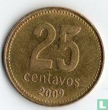 Argentina 25 centavos 2009