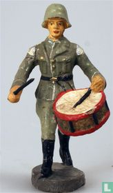 Duitse muzikant met trommel