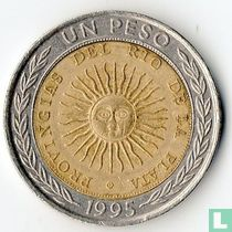 Argentina 1 peso 1995 (with B - PROVINGIAS)