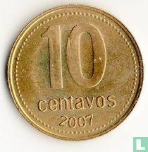 Argentina 10 centavos 2007