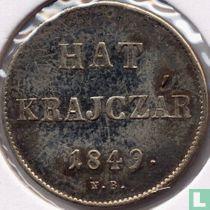 Hongarije 6 krajczar 1849