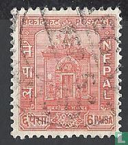 Gouden deur van koninklijk paleis Bhatgaon