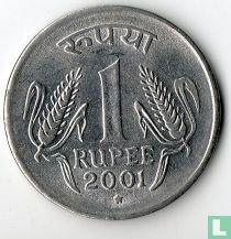 India 1 rupee 2001 (Hyderabad)