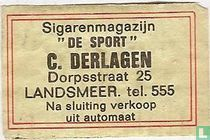 """Sigarenmagazijn """"De Sport"""" C.Derlagen"""