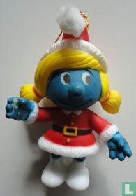 Kerstvrouw Smurfin