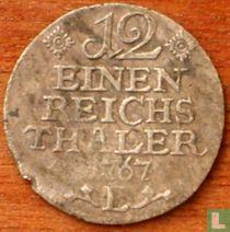 Pruisen 1/12 reichsthaler 1767 (E)