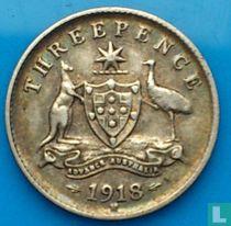 Australien 3 Pence 1918