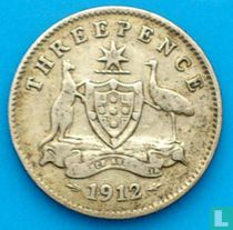 Australien 3 Pence 1912