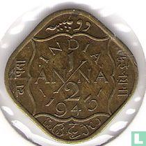 Brits-Indië ½ anna 1943 (INDIA)