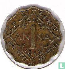 Brits-Indië 1 anna 1943 (Mumbai/Bombay)