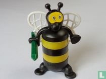 Bee with crayons