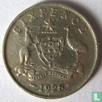Australië 6 pence 1928