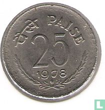 India 25 paise 1978 (Hyderabad)