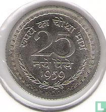 India 25 naye paise 1959 (Calcutta)