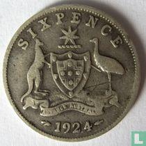 Australië 6 pence 1924