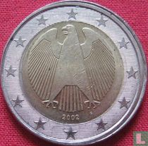 Germany 2 euro 2002 (F - misstrike)
