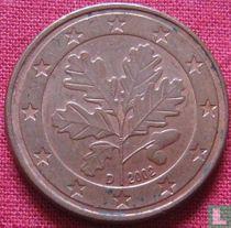 Duitsland 5 cent 2002 (D - misslag)