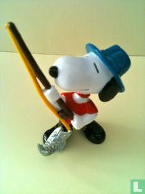 Snoopy als visser