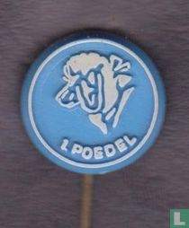 1. Poedel [white on blue]