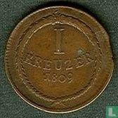 Baden 1 kreuzer 1809