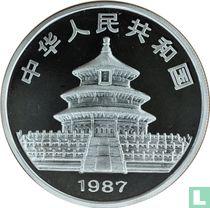 """China 10 yuan 1987 (PROOF - zilver) """"Panda"""""""