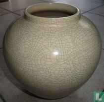 ADCO Vaas 1025 21,5 cm Ivoorkleurig met Craquelé Glazuur