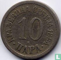 Servië 10 para 1884