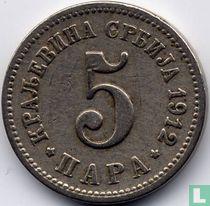 Servië 5 para 1912