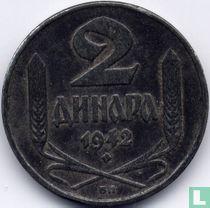 Servië 2 dinara 1942