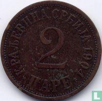 Servië 2 pare 1904