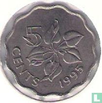 Swaziland 5 cents 1995