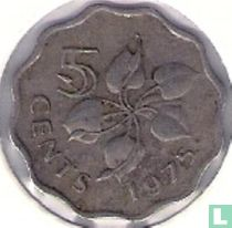 Swaziland 5 cents 1975