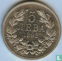 Bulgarije 5 leva 1892
