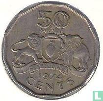 Swaziland 50 cents 1974