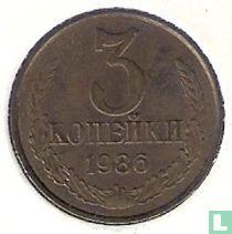Rusland 3 kopeken 1986
