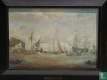 Ships on the IJ for the toll House at Amsterdam