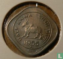 India ½ anna 1955