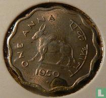 India 1 anna 1950