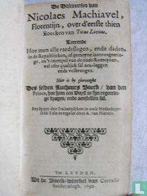 De Discoursen van Nicolaes Machiavel, Florentijn, over d'eerste thien Boecken van Titus Livius