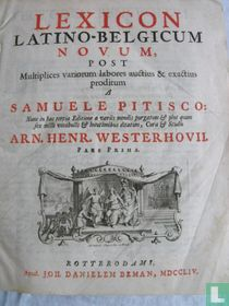 Lexicon Latino-Belgicum novum