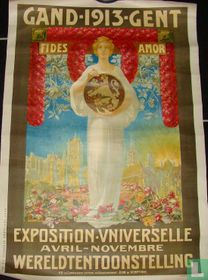Gand 1913 Fides a amor exposition universelle et internationale avril