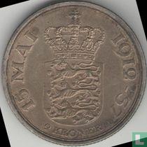 """Denemarken 2 kroner 1937 """"25th anniversary - Reign of Christian X"""""""