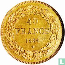 België 40 francs 1834 (muntslag)