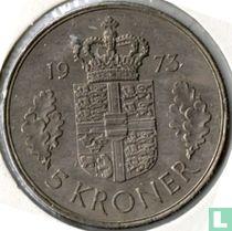 Denemarken 5 kroner 1973 (smalle rand)