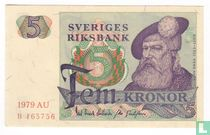 Schweden 5 Kronor 1979